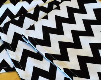 black and white chevron cloth luncheon napkins set of 4