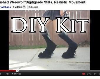 DELUXE DIY KIT Realistic Movement Faun/Demon/Werewolf Digitigrade Stilts and Instructions