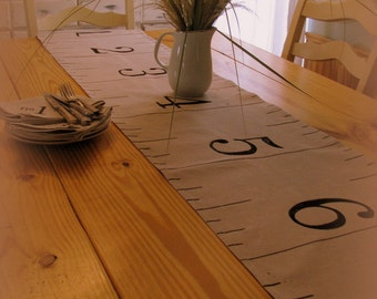 Country chic table runner