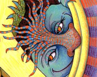 Monster - Monster Art - Giclee - The Peace Beasts - Kids Wall Art - Children Art Print - Nursery Art - Cute Monsters Print - Playroom Decor