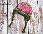 Reserved Listing for Andrea-Urban Baby Earflap Hat (6-12 month size)