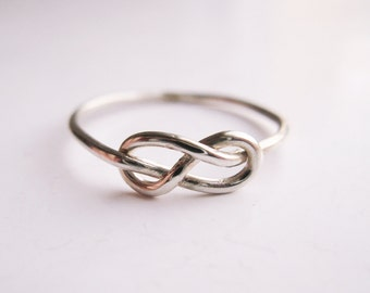Infinity Knot Ring -  Sterling Silver Wire Wrap Ring - Love, Promise, Friends Forever Ring - Love, Friendship Gift