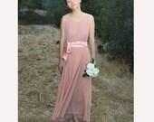 MAXI Dress  chiffon dress summer dress/wedding dress/bridesmaid dress N