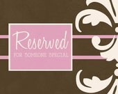 Reserved for Jill