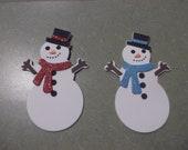 Foam Snowman & Snowwoman Magnets