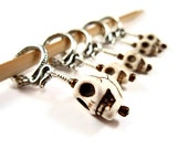 Skull Stitch Markers - Set of 5 - Sugar Skulls and Snakes