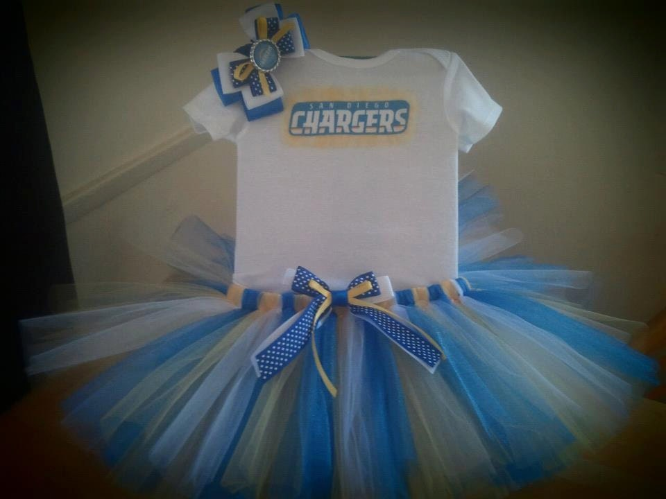 San Go Chargers Inspired Tutu Outfit