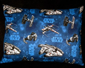 Star Wars Print Travel Pillow Case - Star Wars Throw Pillow - Envelope Back - Star Wars Nap Time - Day Care Pillow - Ready to Ship