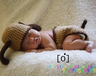 Puppy Dog Hat and Diaper Cover Set Newborn Photo Prop Baby Boy Girl Sizes Newborn 3 Months