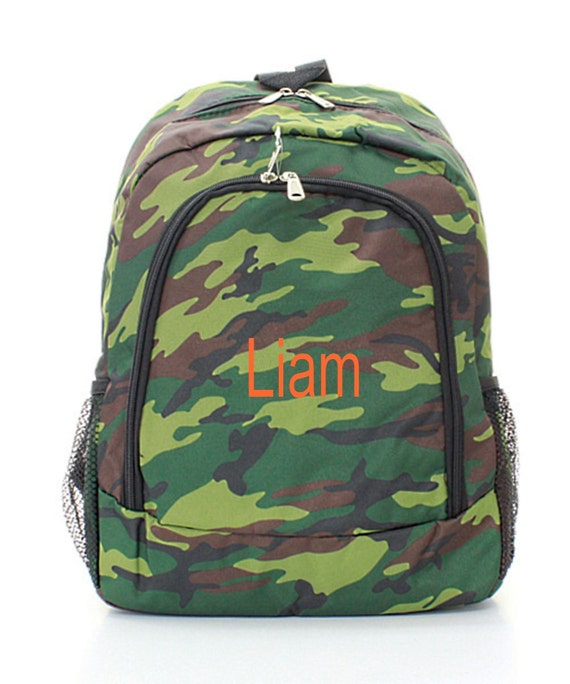 Personalized Boys Camo Backpack Monogrammed FREE Boys