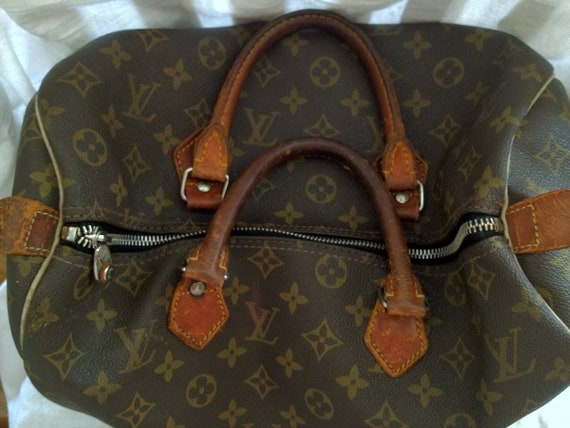 See Ad for 50% Discount - Vintage Louis Vuitton Speedy 35 Monogram Canvas Handbag