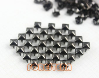 5mm Gunmetal Pyramid Stud Punk Rock Leathercraft Stud (GP05)