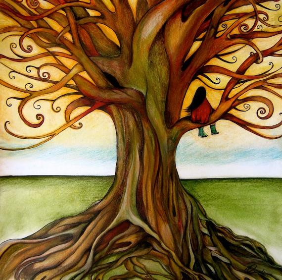 the infinite tree art print