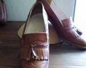 vintage oxfords italian loafer shoes 6.5