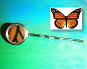 Real Monarch Butterfly Hair Pin