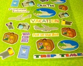 25 pc VACATION Scrap booking stickers great for embellishments on cards and other projects