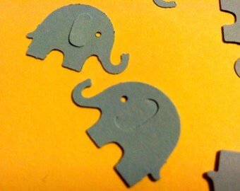50 Baby Blue  MODERN ELEPHANT DECOR  Baby Shower Confetti, Birthday party decorations,Invitations,scrapbooking, cards
