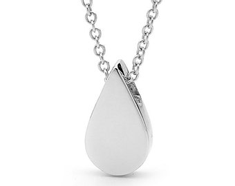 Drop Necklace, Small Sterling Silver Tear Drop Pendant, Necklace or Anklet