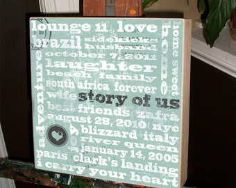 Valentine's Day Gift,  Wedding Gift, Bridal Shower Gift , Personalized Wedding Gift, Anniversary Gift,  Father of the Bride, 15 x 15 Birch