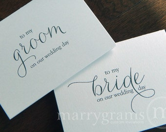 Wedding Card to Your Bride or Groom on Your (Our) Wedding Day - Love Note to Future Husband or Wife Card CS01