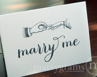 Wedding Card to Your Bride or Groom - Marry Me - Wedding Day Note, Vow Exchange, or Ask to Marry Me Card - Vintage Wedding Style CS02