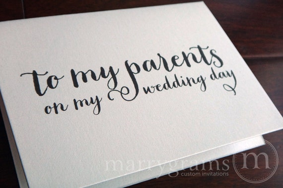 Parents Gift Wedding: 1/2 OFF SALE Wedding Card To Your Mother Or Father