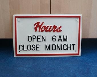 Vintage Bar or Business Sign