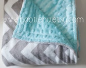 Seawater & Chevron Minky Baby Available in 5 sizes