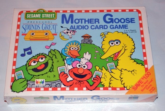 Sesame Street Mother Goose Audio Card Game, New in Shrinkwrap