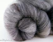 Textured Batt - Art yarn Spinning Fiber, Grumio BFL, Black Welsh Mountain, Bamboo, Recycled bottle 105g 1111