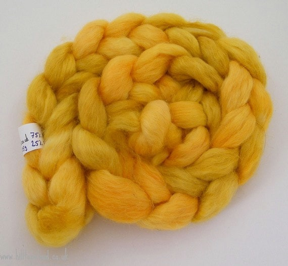 Yellow Roving- Masham Milk Protein Spinning Fiber- Pocklington 100g 1027