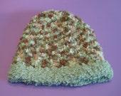 Soft, camo colored knitted cap