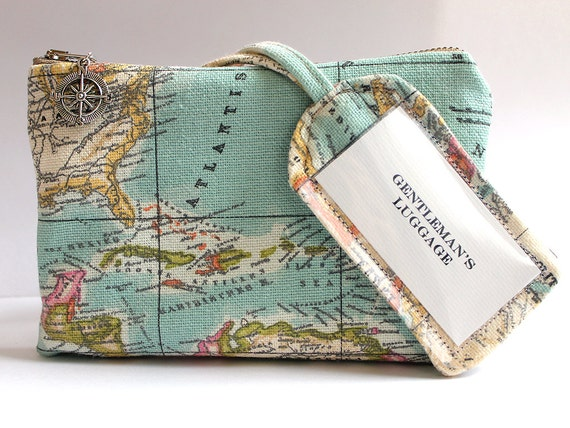 Retro Wedding Gifts: Items Similar To Vintage Map Travel Set Personalized