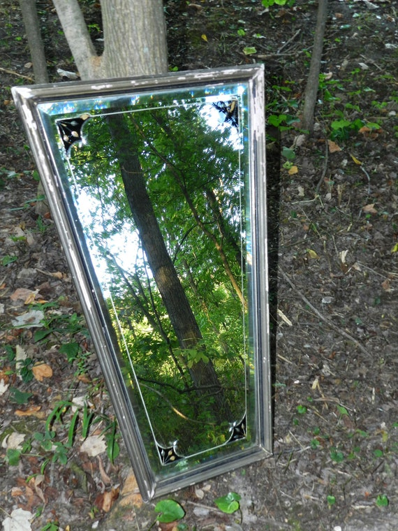 Antique 1800s Farmhouse Mirror and Frame