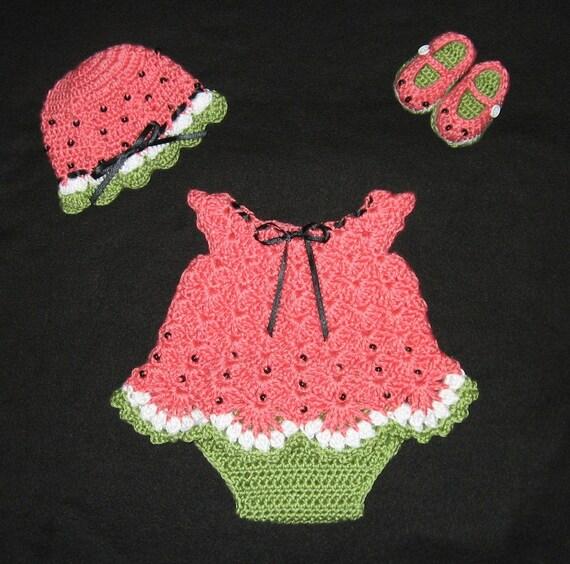 پوشک لباس برای دختر بچه با Booties، کلاه، پوشش لباس و پوشک بچه هندوانه تنظیم