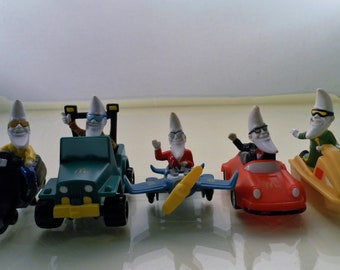 Vintage 1988 5 Mac Night McDonalds Advertising Happy Meal Figures.