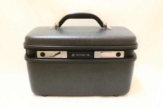 Vintage Samsonitea Dark Grey Train case, Travel case, Cosmetic box