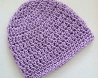 Lavender Gumdrop Beanie, Crochet Baby Hat, Newborn Hat, Baby Hat, Crochet Baby Beanie, Photo Prop