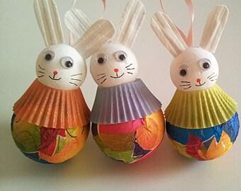 Circus Bunny Ornament / Christmas / Holiday / New Year