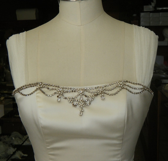 Straps cap sleeves Ivory Off White Silk Mesh English Netting DETACHABLE