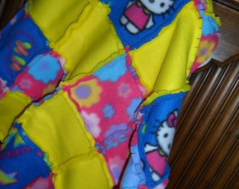 Hello Kitty...Blankie...LAP...Stroller...Rag...fLeEcE...Minkie...Blanket...FLOWERS...