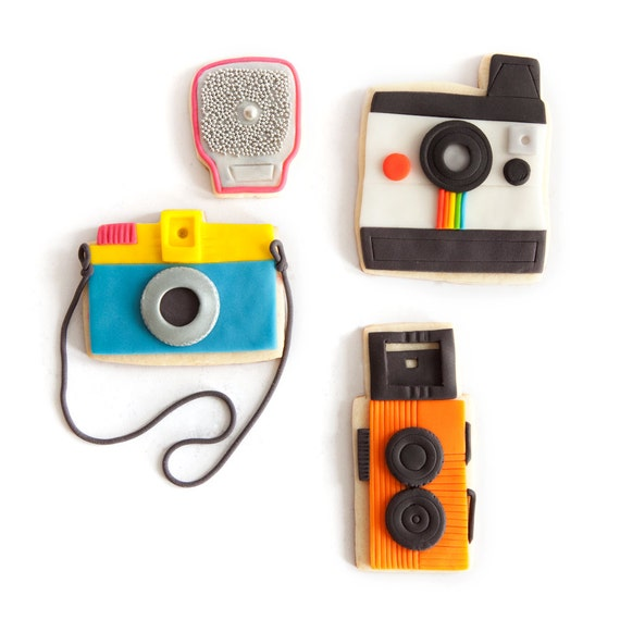 camera cookie set (3 camera cookies plus 1 flash)
