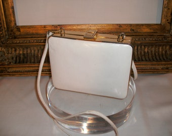 Vintage 1970/80's Bellido White Leather Handbag