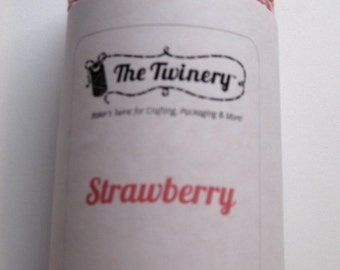 10 Yards of STRAWBERRY - Pink and White Bakers Twine