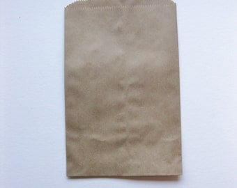 "10 Flat Brown Kraft Merchandise Bags (4.00"" x 6.00"")"