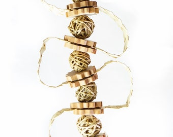 Natural Vine and Raffia Toy