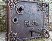 Vintage Victorian Door Lock and Key