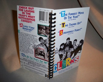 Clerks VHS tape box notebook