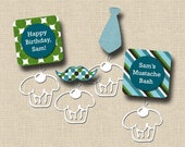 Little Man Mustache Bash Birthday Cupcake Toppers and Wrappers - PRINTABLE