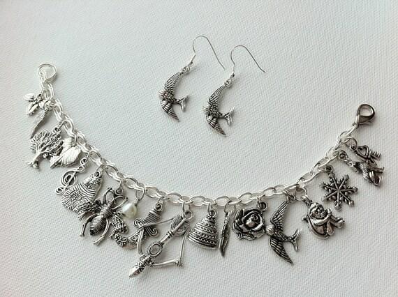 Hunger Games Inspired Charm Bracelet and Earrings